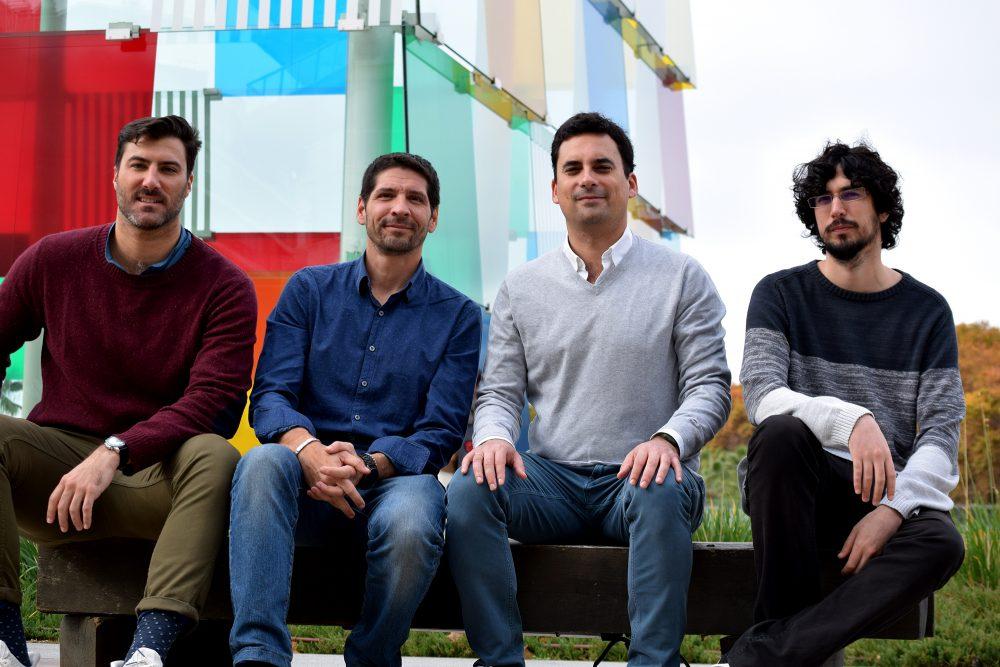 El equipo fundador de Loonfy (izq-dch) Álvaro García, Oskar Rodriguez, Enrique de Nova y Alejandro Cantero 2